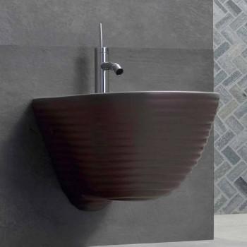 Bidet suspendu de design Made in Italy en céramique Trabia