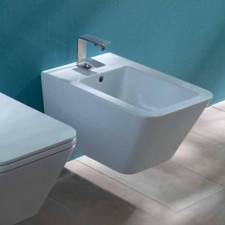 Cerami cc bidet suspendu design Sun Square 55x35cm, fabriqué en Italie