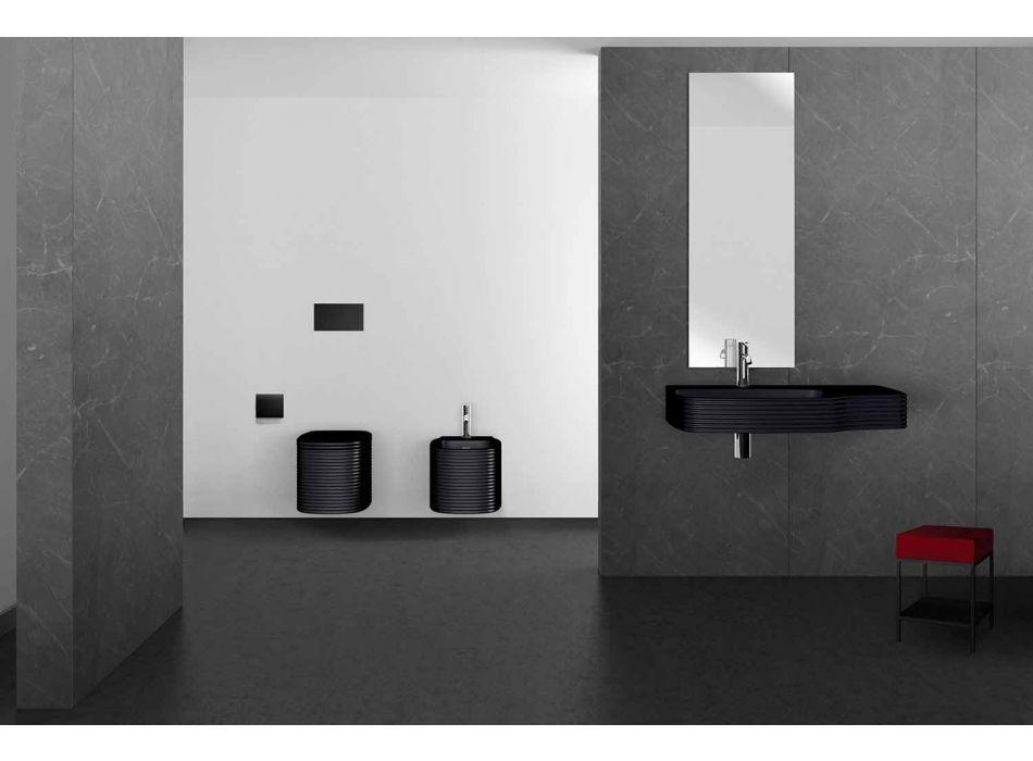 Bidet suspendu en céramique de conception moderne fabriqué en Italie, Hamlet