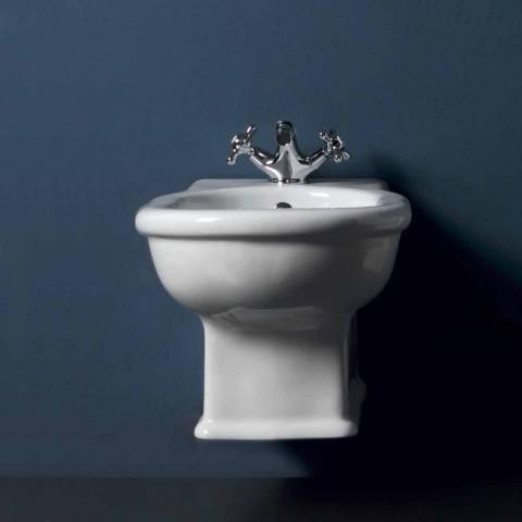 Bidet moderne en céramique blanche Style 54x36 cm, fabriqué en Italie