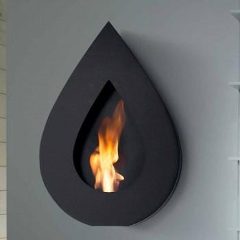 bioéthanol Biocamino mur moderne à la forme de la flamme Joseph