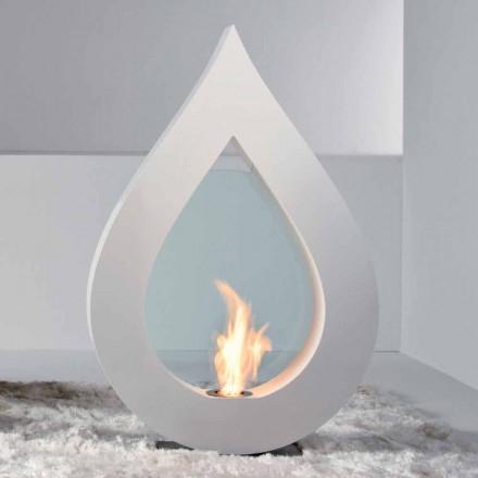 Cheminée bioéthanol à poser au sol de design moderne Todd