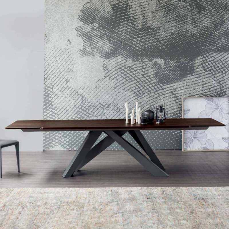 Table extensible Bonaldo Big Table en bois design Italie