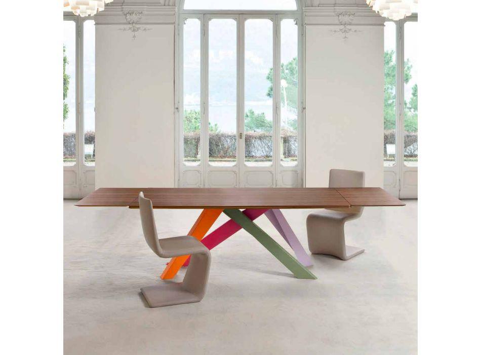 Bonaldo Big Table table de placage de bois extensible fabriqué en Italie
