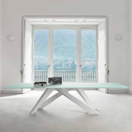 Bonaldo Big Table table en cristal extraclair design faite en Italie