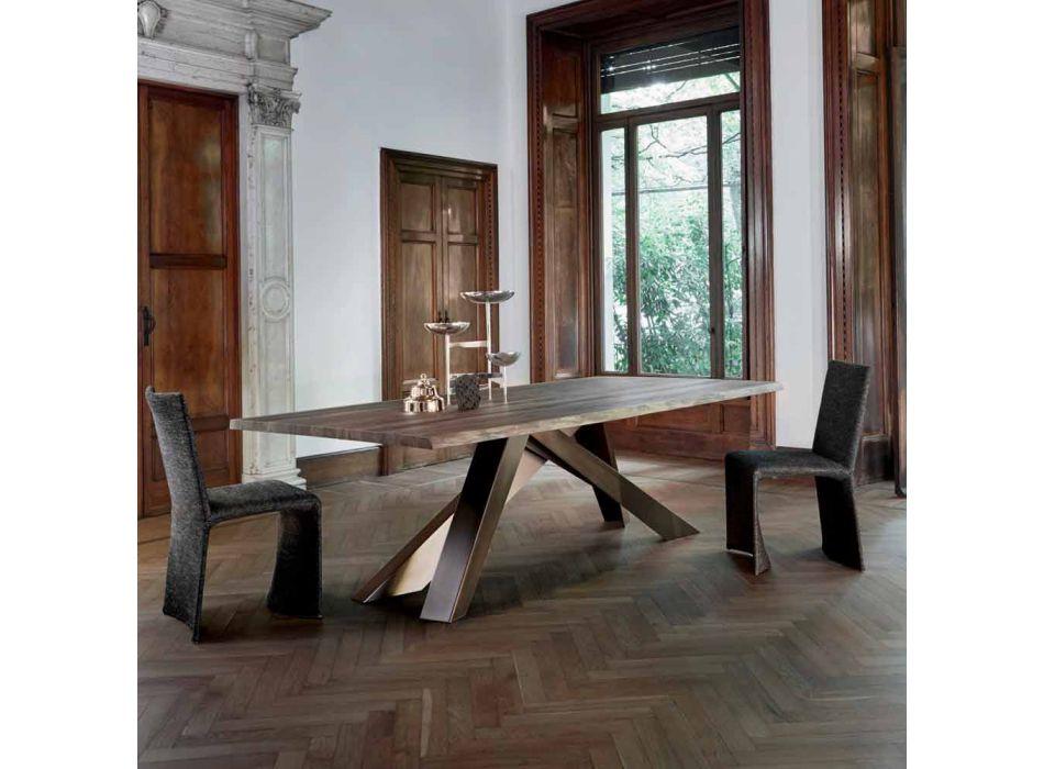 Bonaldo Big Table table en bois massif arêtes naturelles fabriquées en Italie
