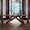 Bonaldo Big Table table en bois massif de design, faite en Italie