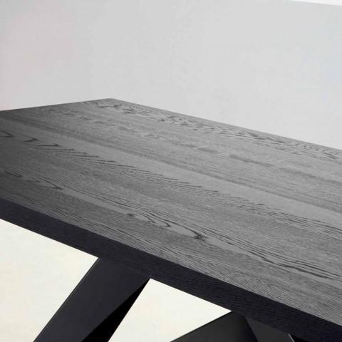 Bonaldo Big Table table en bois massif gris anthracite fabriquée en Italie