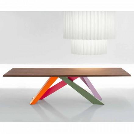 Bonaldo Big Table table en bois massif noix américain faite en Italie