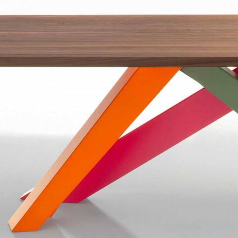 Bonaldo Grande Table en bois massif de noyer américain fabriqué en Italie