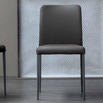 Chaise design Bonaldo Deli avec assise rembourrée fabriquée en Italie