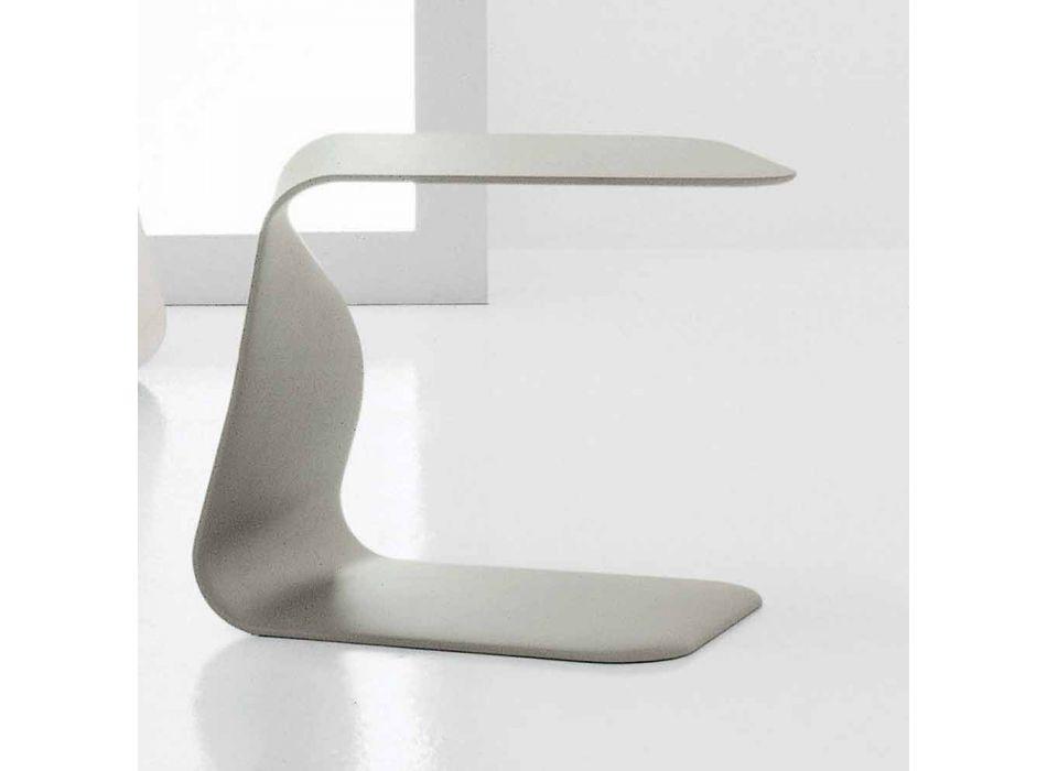 Table basse design Bonaldo Duffy 48x60 polyuréthane laqué fabriqué en Italie