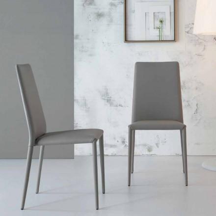 Bonaldo Eral chaise design moderne rembourrée en cuir faite en Italie
