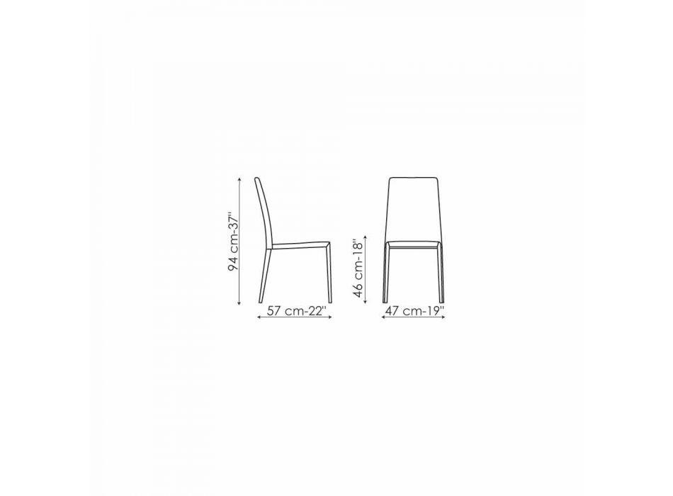 Chaise design Bonaldo Eral rembourrée en cuir fabriqué en Italie