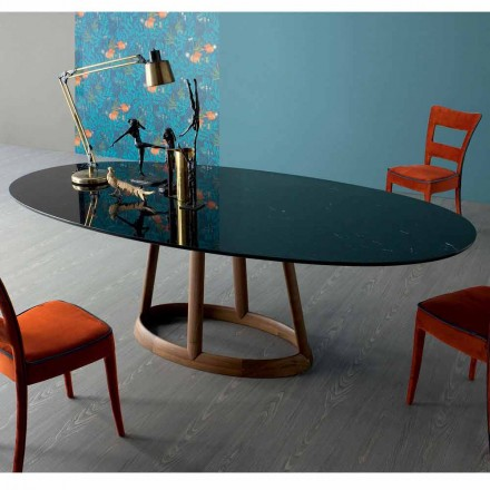 Bonaldo Greeny table ovale design en marbre Marquinia faite en italie