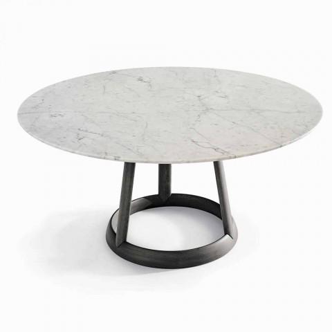 Bonaldo Greeny design de table ronde Carrara marbre fabriqué en Italie