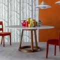 Bonaldo Greeny table ronde plateau marbre calacatta faite en Italie