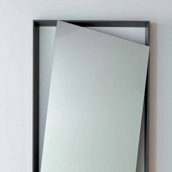 Bonaldo Hang miroir mural en bois laqué design H185cm fabriqué en Italie