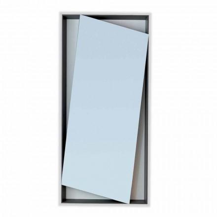 Bonaldo Hang miroir mural de design bois laqué H185cm fait en Italie