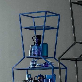 Bonaldo June bibliothèque en métal coloré de design H190xL70cm fabriqué en Italie