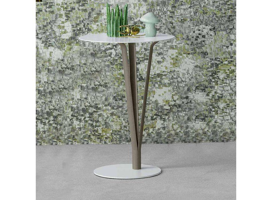 Table design Bonaldo Kadou en acier peint D39cm fabriqué en Italie