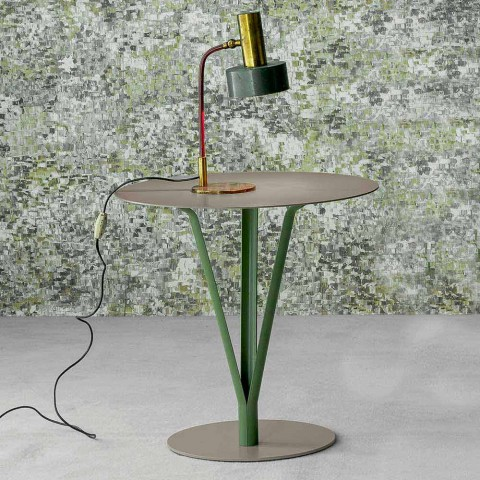 Table design Bonaldo Kadou en acier peint D50cm fabriqué en Italie