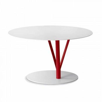 Table design Bonaldo Kadou en acier peint D70cm fabriqué en Italie