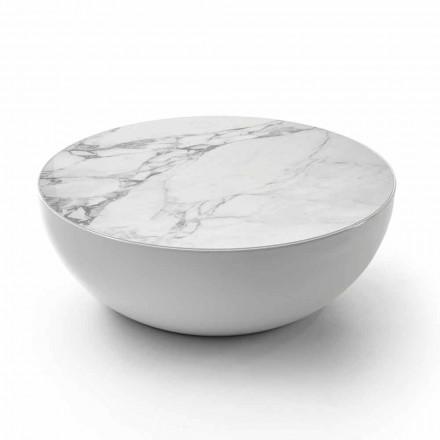 Bonaldo Planet table basse design céramique Calacatta faite en Italie