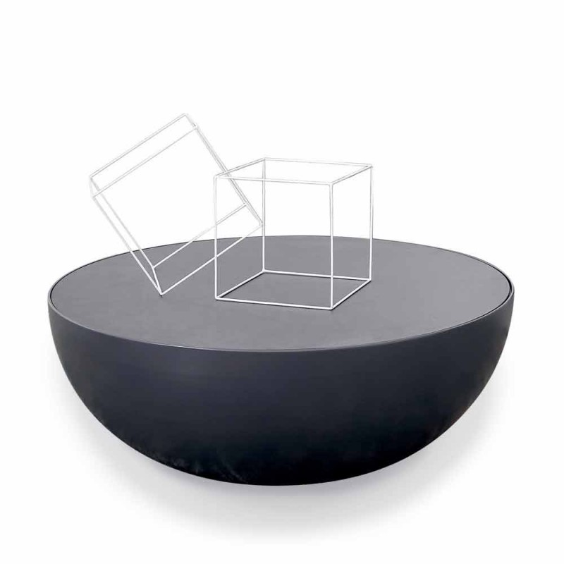Table basse Bonaldo Planet design en verre gravé made in Italy