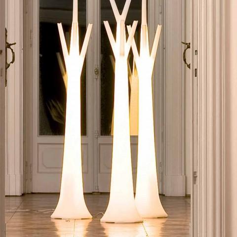 Cintre arbre Bonaldo avec lumière en polyéthylène fabriqué en Italie
