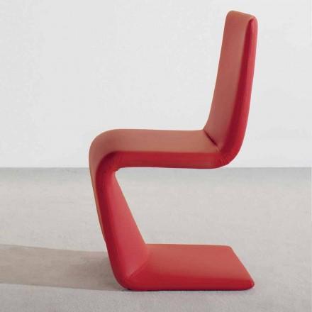 Bonaldo Venere chaise design moderne rembourrée cuir faite en Italie