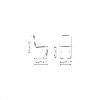Chaise design moderne Bonaldo Venere rembourrée en cuir fabriquée en Italie