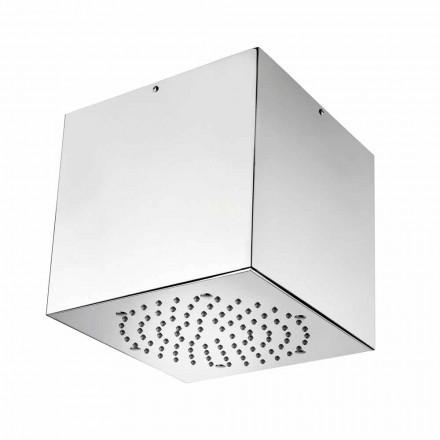 Bossini Plafond de douche 1 jet   Cube avec couverture en inox
