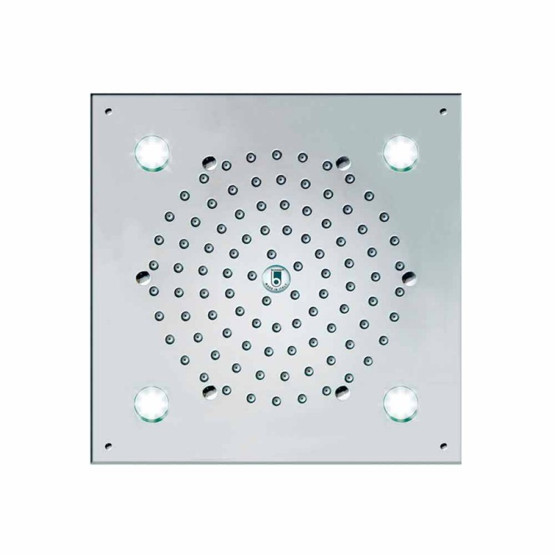 Bossini Tête de douche 4 lumières Led Cube-Light