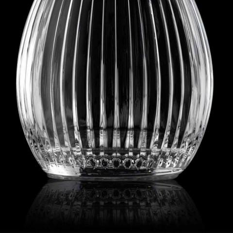 Bouteilles à vin rondes avec bouchon en cristal 4 pièces - Senzatempo
