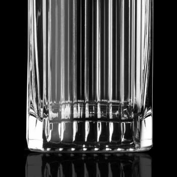 Bouteilles de whisky en cristal écologique de conception carrée de 4 pièces - Senzatempo