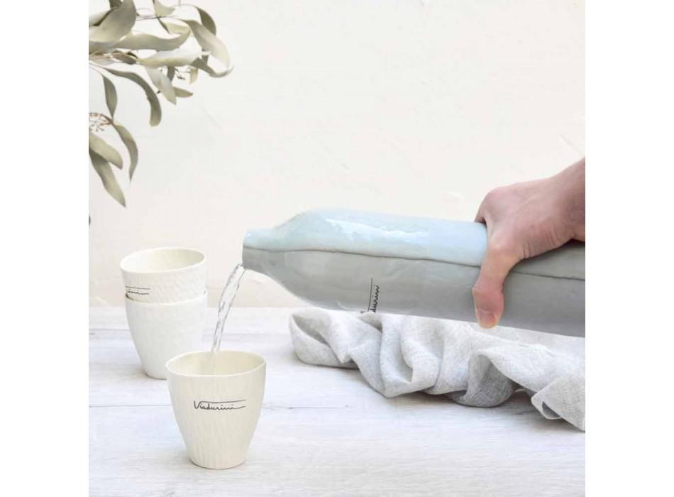 Bouteilles en porcelaine blanche et grise Design de luxe 2 pièces uniques - Arcivero