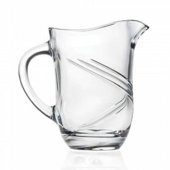 Carafe à eau en cristal écologique décorée à la main 2 pièces - Cyclone