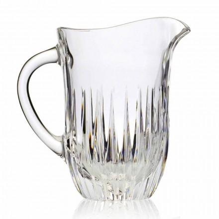 Pichet en cristal écologique avec décoration artisanale, luxe italien, 2 pièces - Voglia