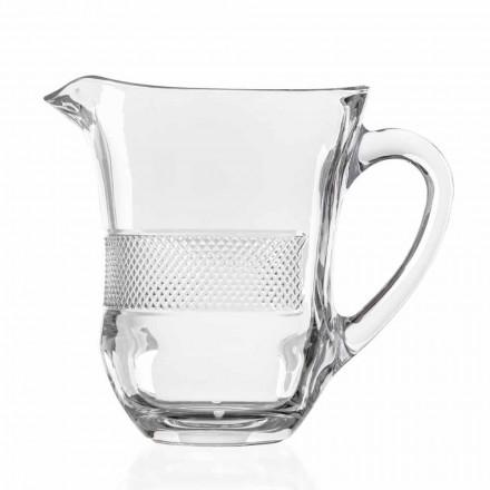 Pichet en verre de cristal écologique décoré de luxe, 2 pièces - Milito
