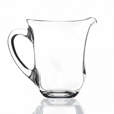 Cruche à eau en cristal écologique design italien, 2 pièces - Lisse