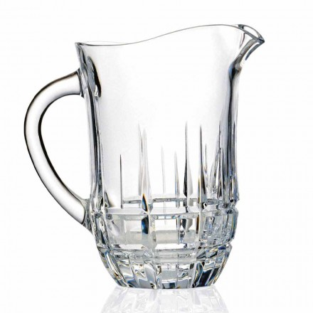 Pichet à eau en cristal écologique décoré, design de luxe, 2 pièces - Fiucco