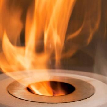 Brûleur circulaire en acier satiné pour foyer au bioéthanol - Griff12
