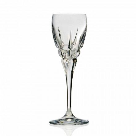 Verre à vin rouge en cristal écologique taillé à la main 12 pièces - Fiucco
