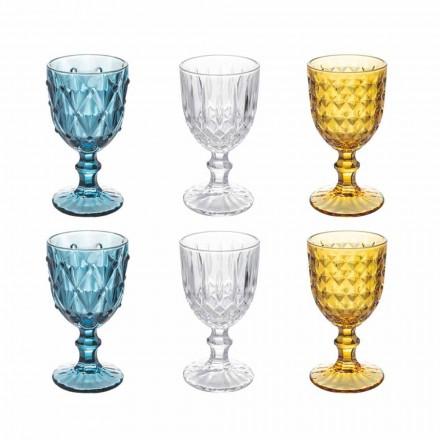 Gobelets en verre coloré en verre décoré en relief, 12 pièces - Angers