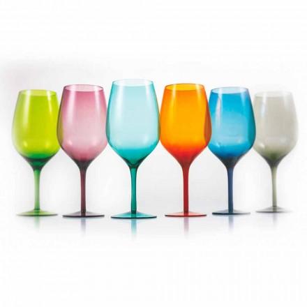 Verres à Vin de Couleur Blanc ou Rouge en Verre 3 Variantes 12 Pièces - Aperi