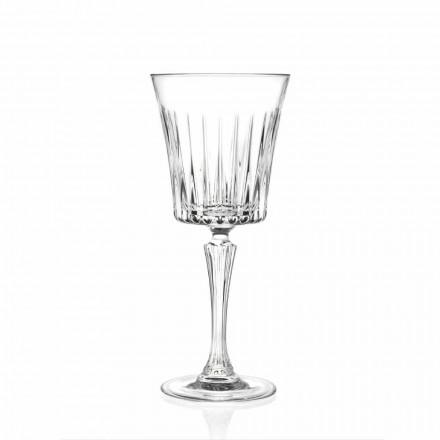 Conception de verres à vin et à cocktail de luxe en cristal écologique 12 pièces - Senzatempo