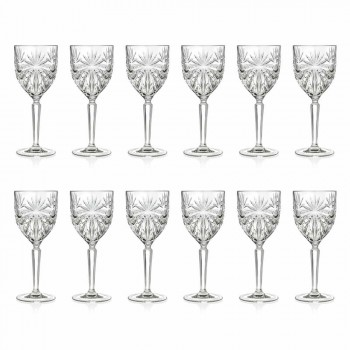 12 verres à vin ou à eau en cristal écologique - Daniele