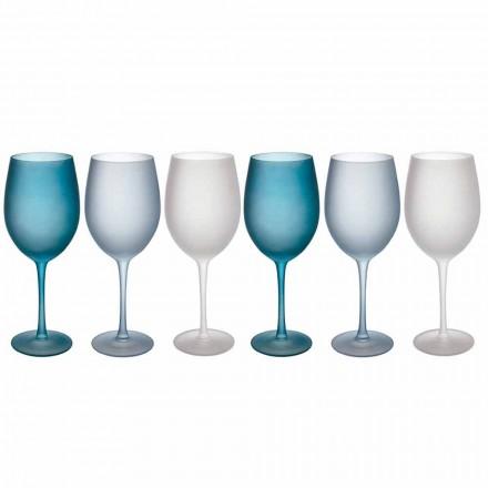 Verres à Vin Colorés en Verre Givré Effet Glace, 12 Pièces - Automne