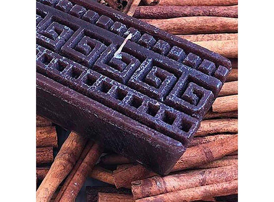 Bougie parfumée à la cannelle rectangulaire fabriquée en Italie - Alissa
